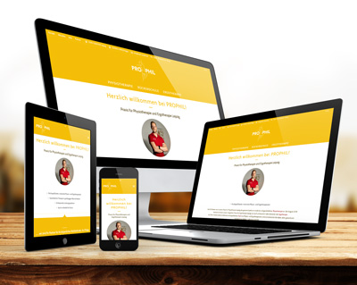 Webdesign Physiotheapie Prophil